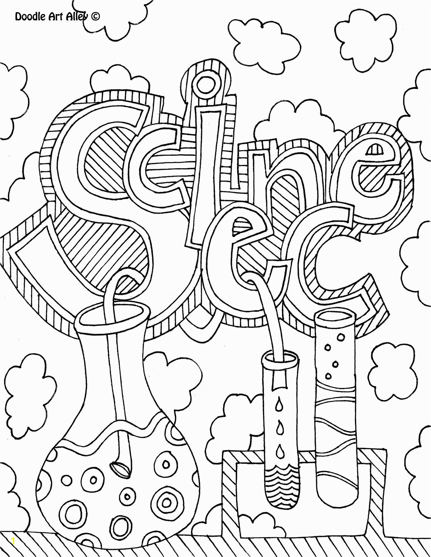 science coloring page book cover