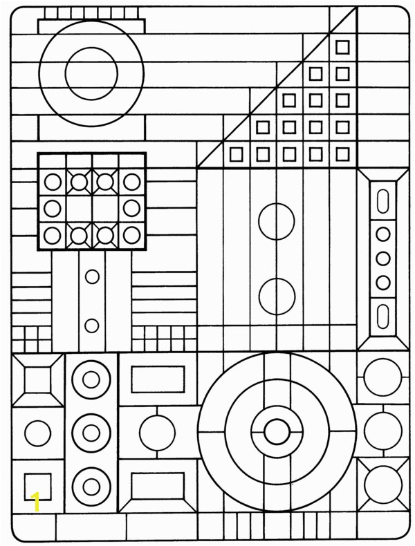 Coloring page to use while learning geometric shapes