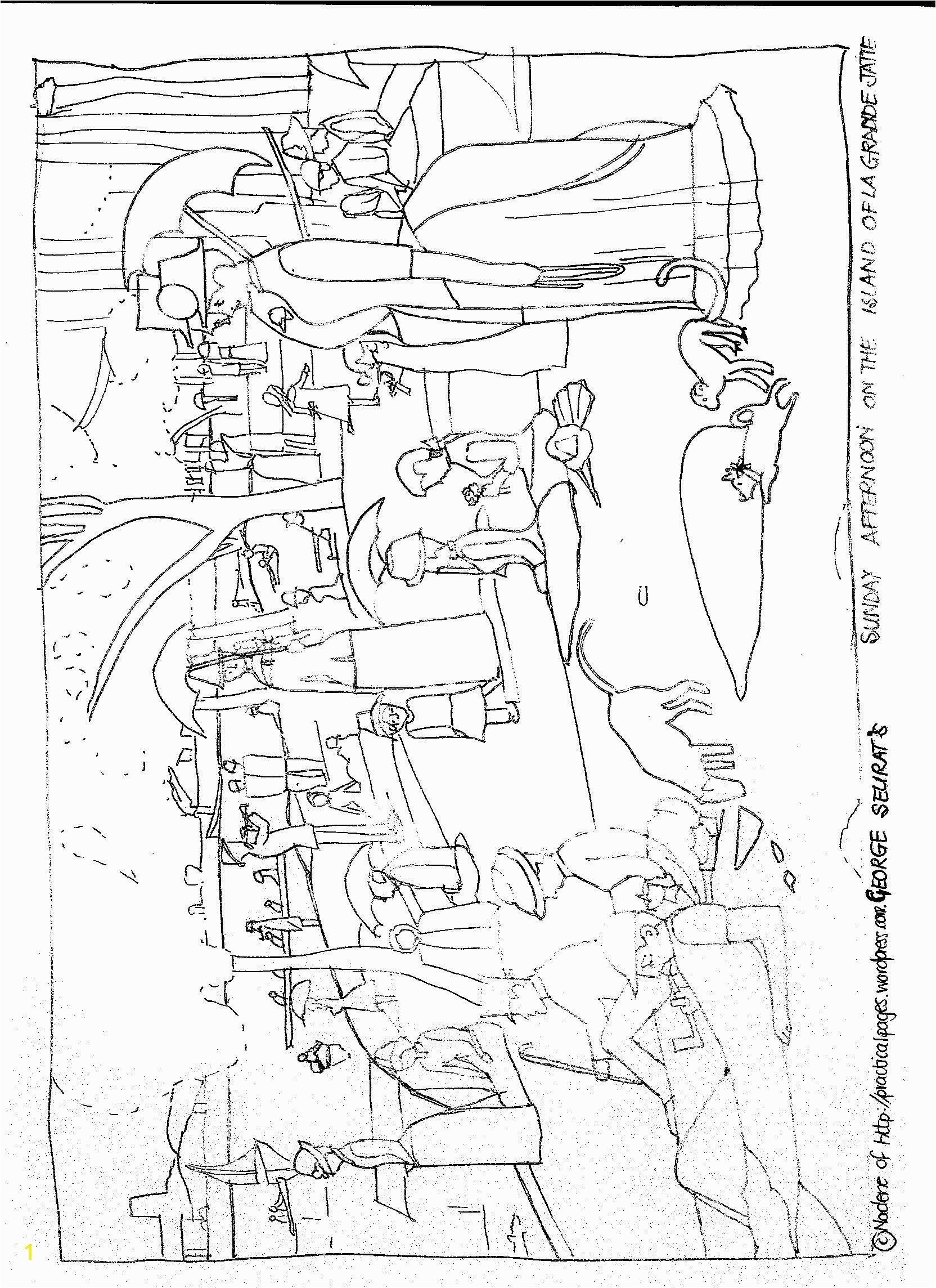 Seurat Coloring Pages