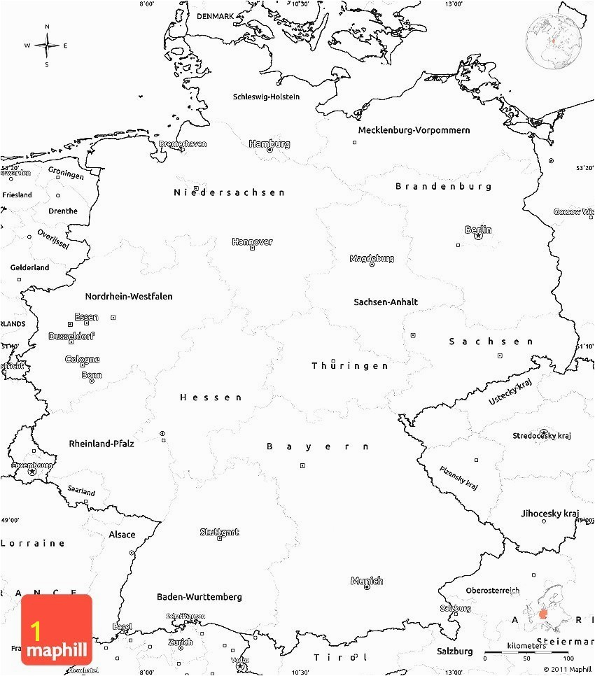 Germany Map Printable 7
