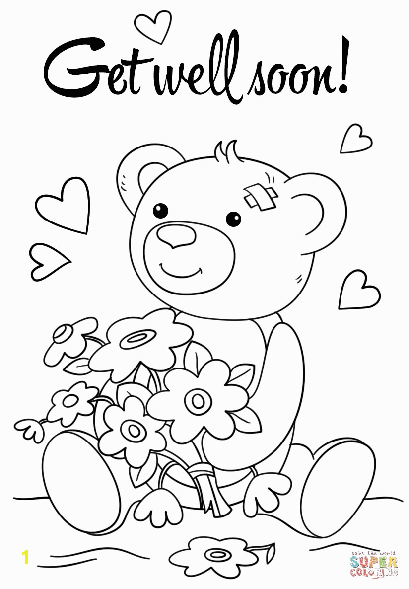Best Get Well Soon Coloring Pages More Image Ideas