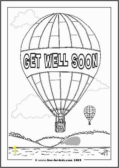 Get Well Soon coloring pages printables