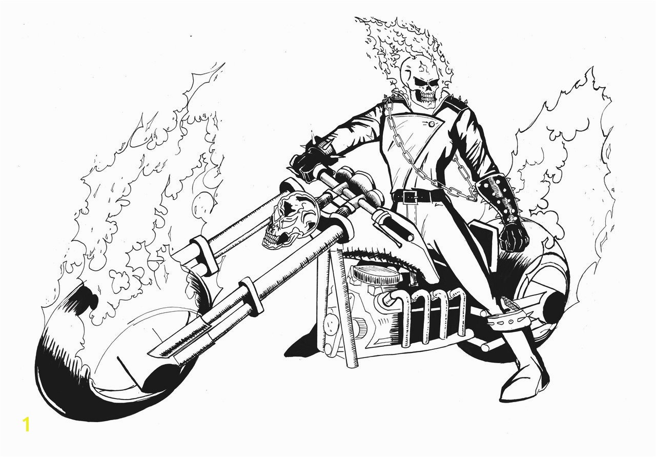 Ghost Rider Coloring Pages 15 Awesome Ghost Rider Coloring Pages S