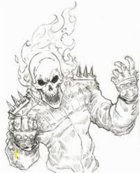 Ghost Rider Coloring Pages Ghost Rider Coloring Page Democraciaejustica
