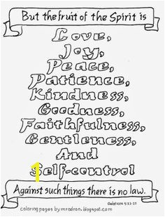 Coloring Pages for Kids by Mr Adron Free Fruit The Spirit Coloring Page Galatians