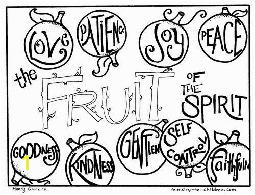 10 free printable coloring sheets based on the Fruit of the Spirit