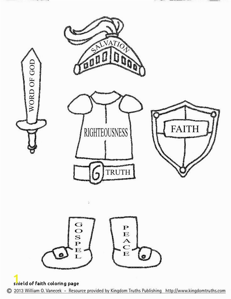 27 Shield Faith Coloring Page