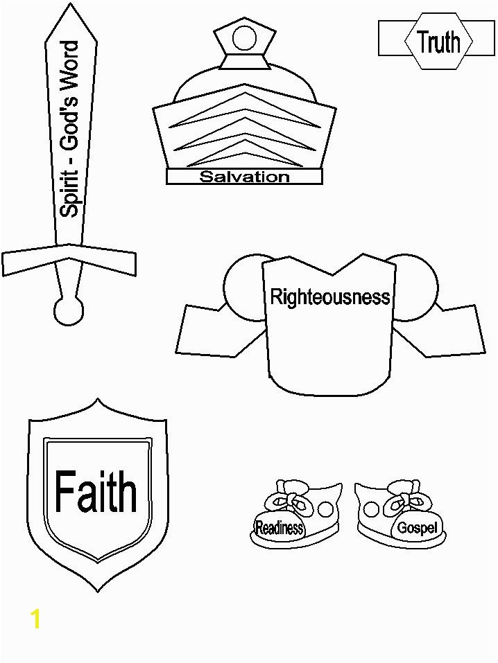 Armor of God Printable Craft Bible Crafts Pinterest