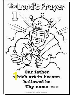 God is Our Father Coloring Pages Our Father Colouring Page Sunday School Prayer