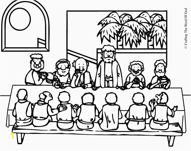 Gods Word Coloring Page Last Supper Coloring Page Elegant Cartoon Od Jesus Disciples
