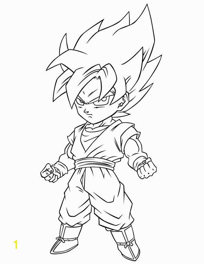 Goku Super Saiyan 3 Drawing Fresh Dragon Ball Coloring Pages Best Coloring Pages for Kids
