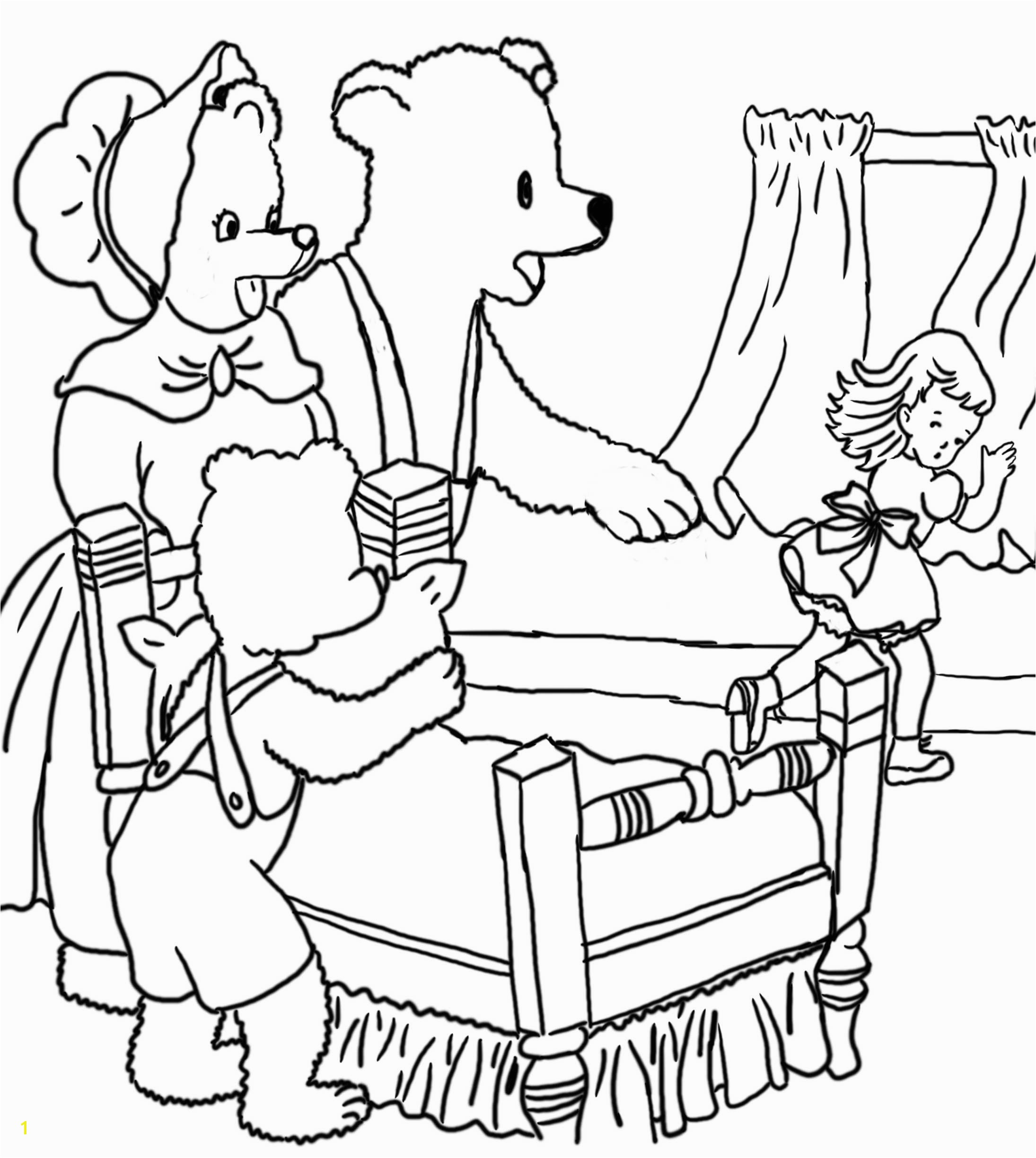 Gol and Bear Coloring Pages Unique Colouring Sheets Goldilocks and the Three Bears Three Bears Coloring
