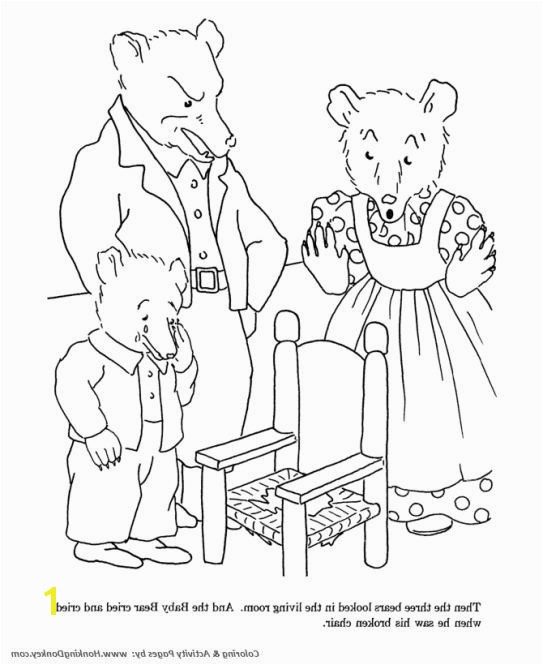 Gol and Bear Coloring Pages Inspirational A Chair for Baby Bear Activities Good Looking 8 Gol