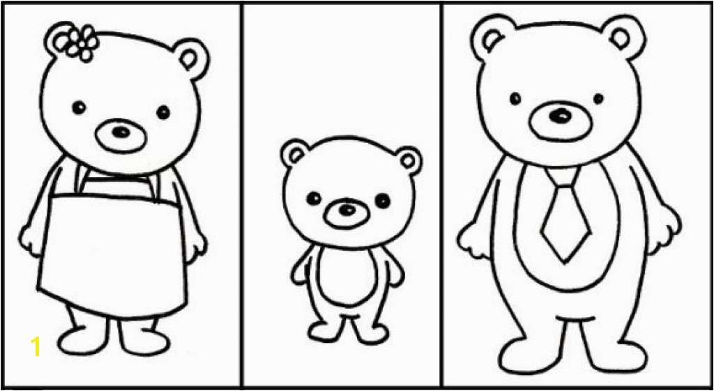 Gol And Bear Coloring Pages Best The Three Bears Coloring Pages