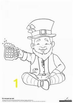 Leprechaun coloring page freebie coloringpage illustration art lineart kids