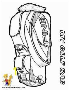 Golf Bag Coloring Page Free Digital Stamp Set Golf Bag Masculine