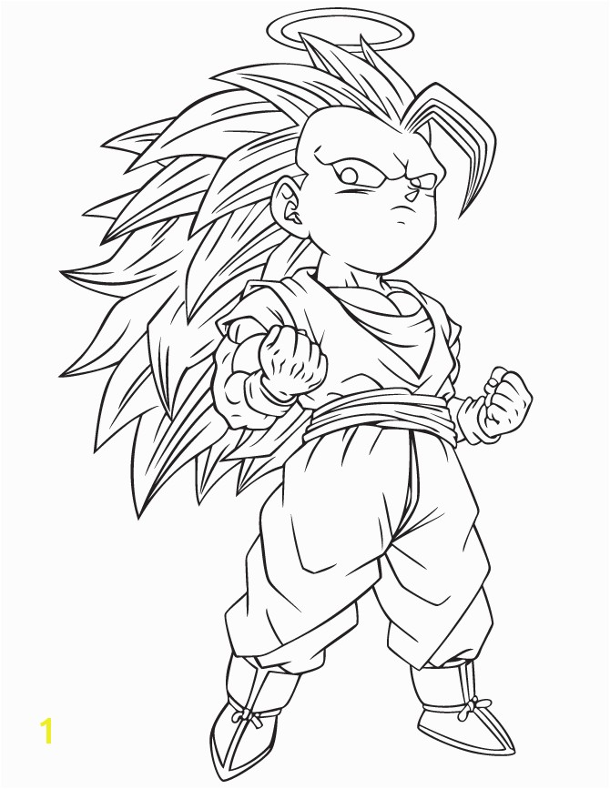 SSJ3 Gotenks Afterlife Dragon Ball Z Coloring Pages