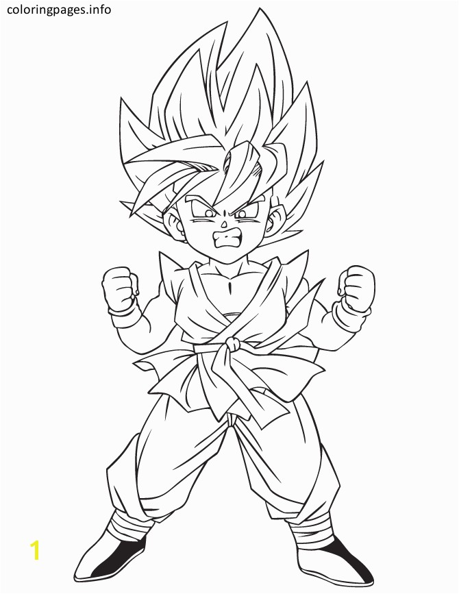 kid goku ssj3 coloring pages