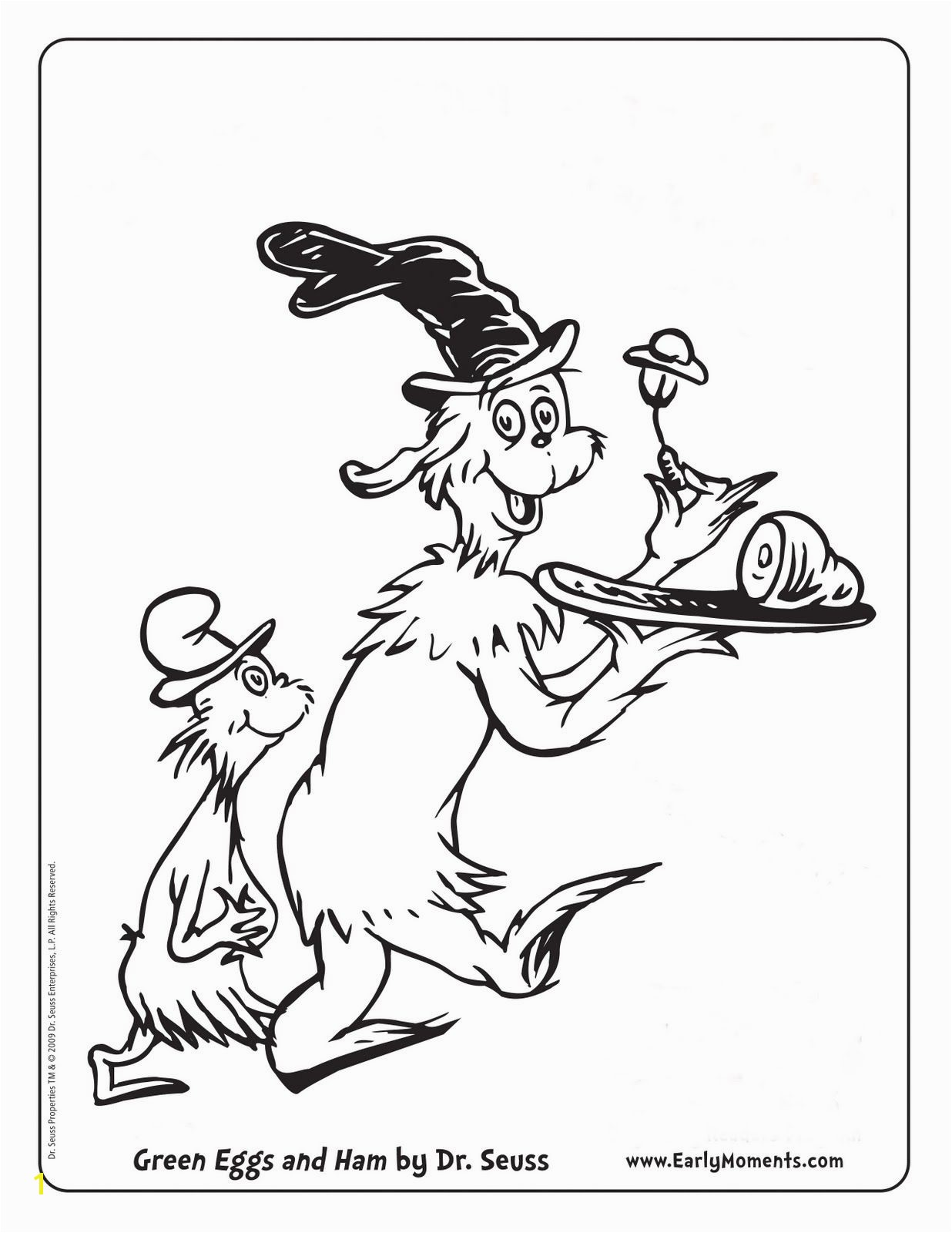 Dr seuss coloring page green eggs and ham Dr Suess Pinterest