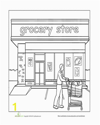 Worksheets Paint the Town Grocery Store