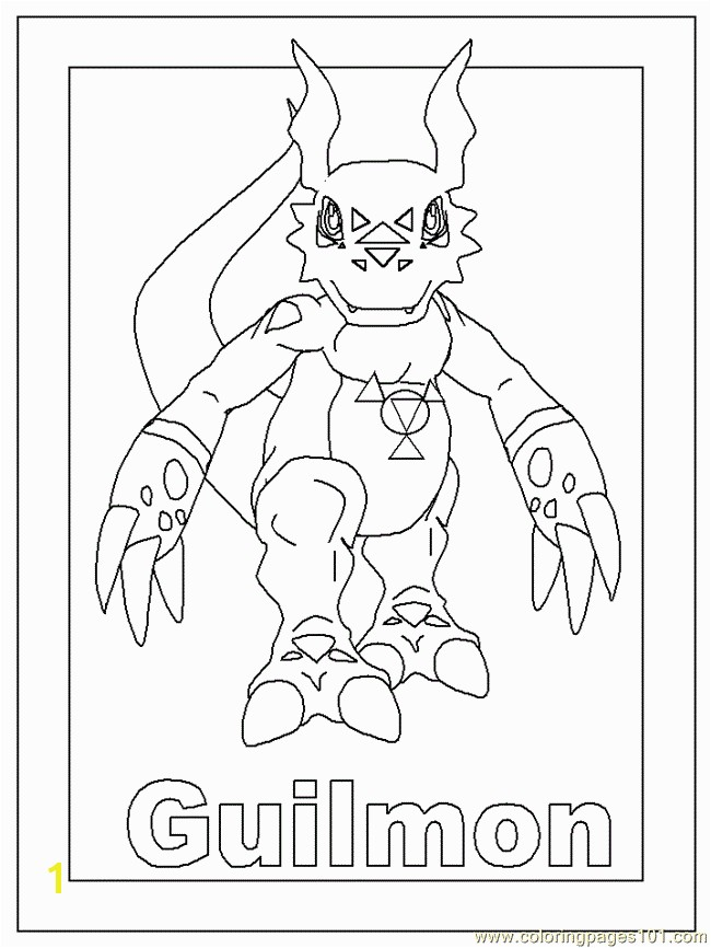 Digimon Coloring Pages 57 Coloring Page