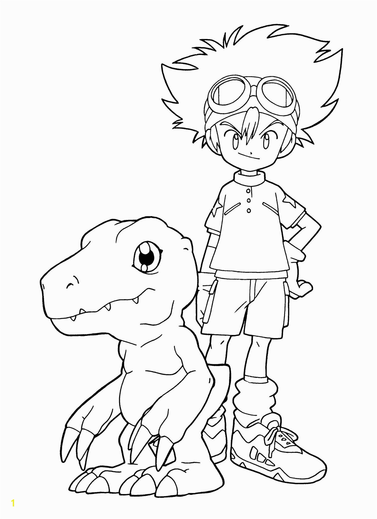Guilmon Coloring Pages