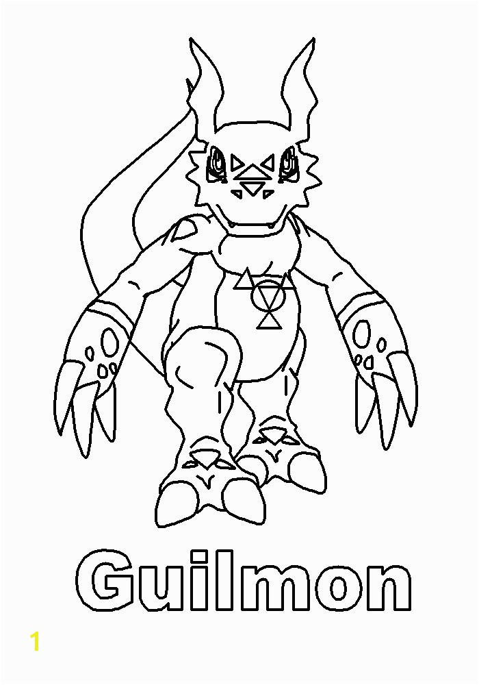 Guilmon Coloring Pages Guilmon Coloring Pages Page Tv Series Digimon Pic S Elegant