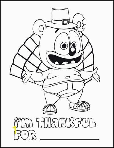 Gummibƒ¤r Thanksgiving Coloring Page