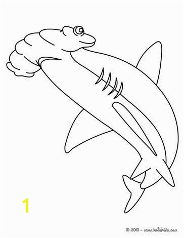 The Great Hammerhead shark coloring page Let your imagination soar and color this Great Hammerhead shark coloring page with the colors of your choice