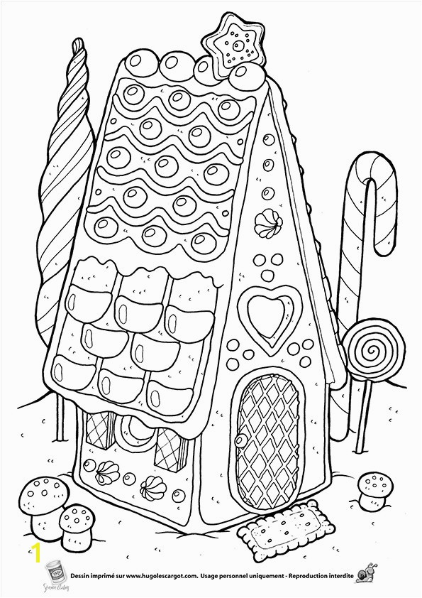 "Hansel and Gretel Candy House Coloring Page Unique Icolor ""gingerbread Houses"""
