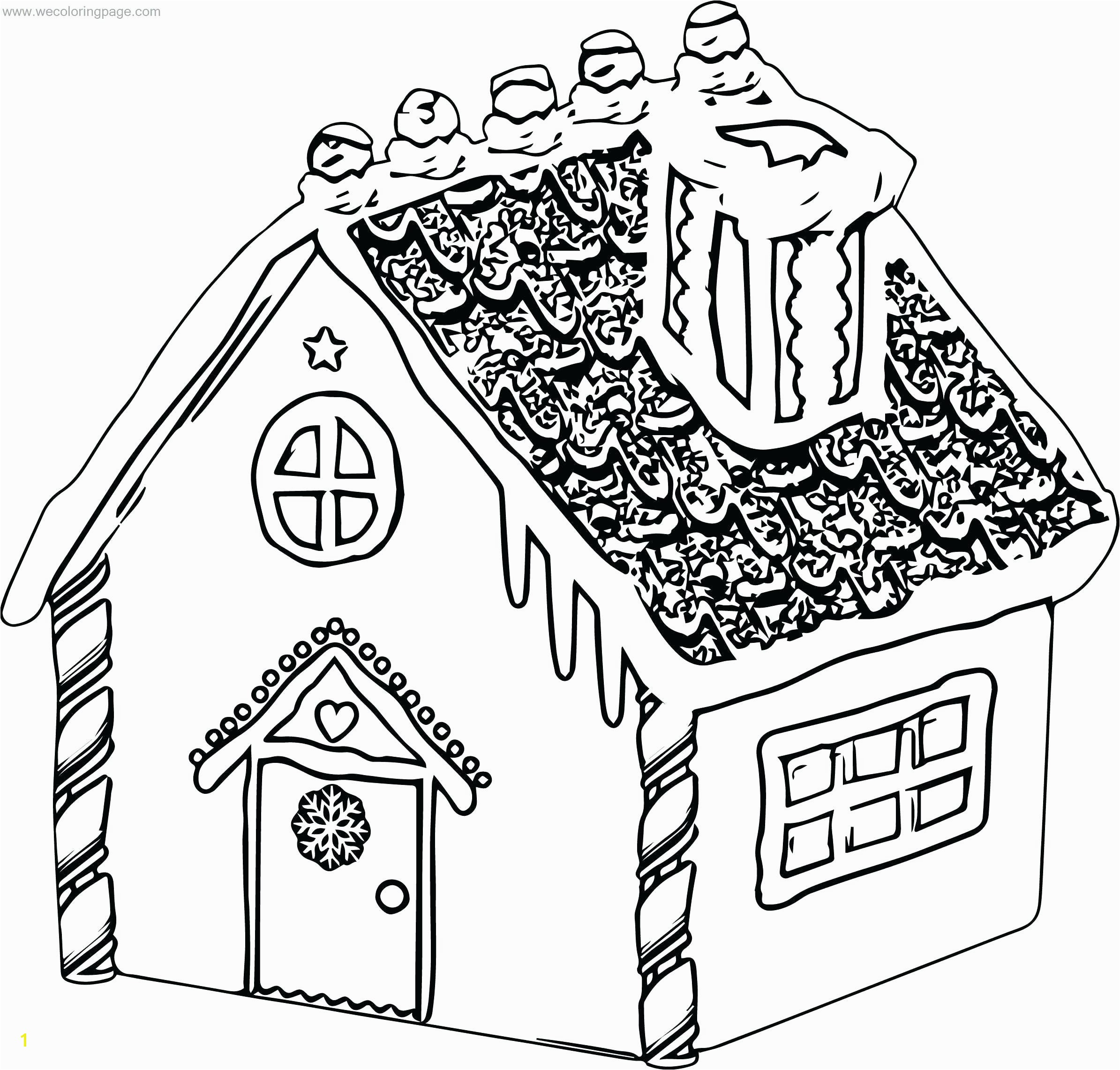 Hansel and Gretel Candy House Coloring Page House Color Pages Candy House Coloring Page Hansel and