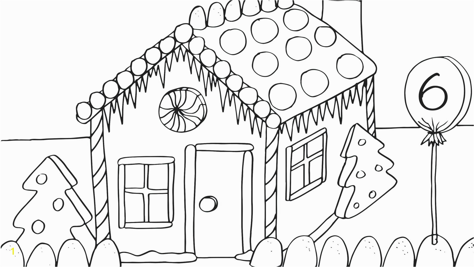 Hansel and Gretel Candy House Coloring Page Nice Gingerbread House Coloring Pages Ensign Coloring Paper