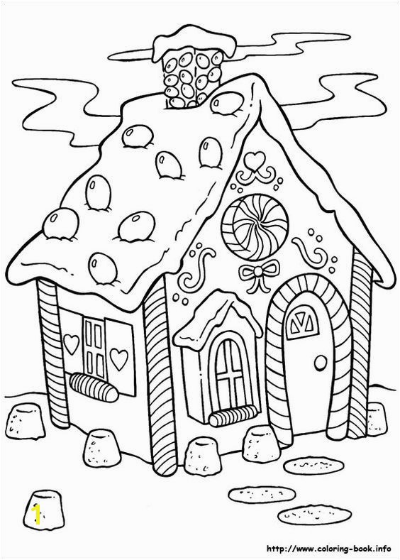 """Hansel & Gretel"" Gingerbread House Coloring Page There are probably 100 Christmas coloring pages alone Many Santa pages but also several"
