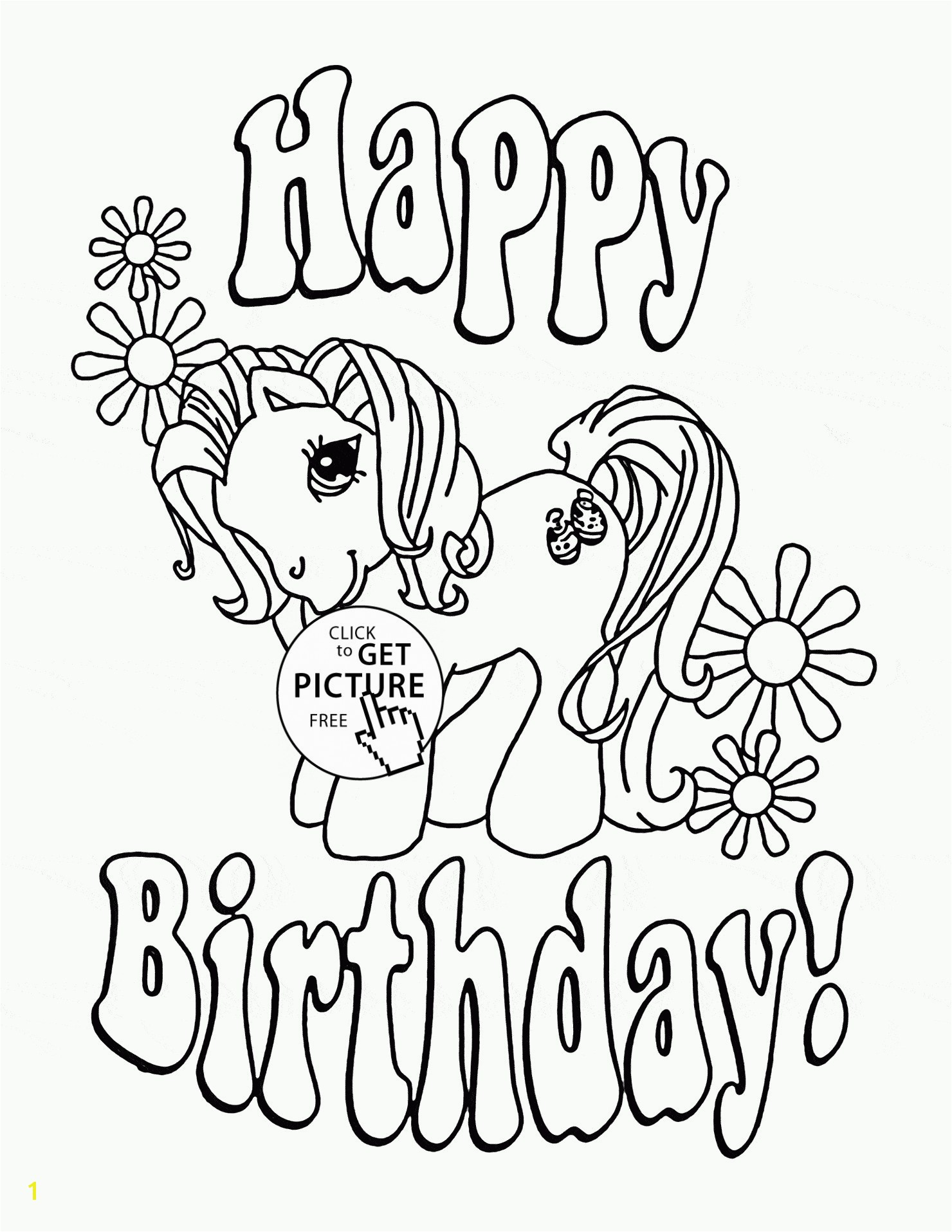 Birthday Coloring Book Inspirationa Cute Happy Birthday Coloring Pages Printable