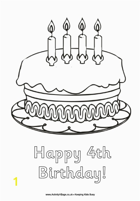 Happy 4th Birthday Coloring Pages Happy 4th Birthday Coloring Page Birthday Ideas