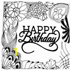 Adult coloring page Happy Birthday