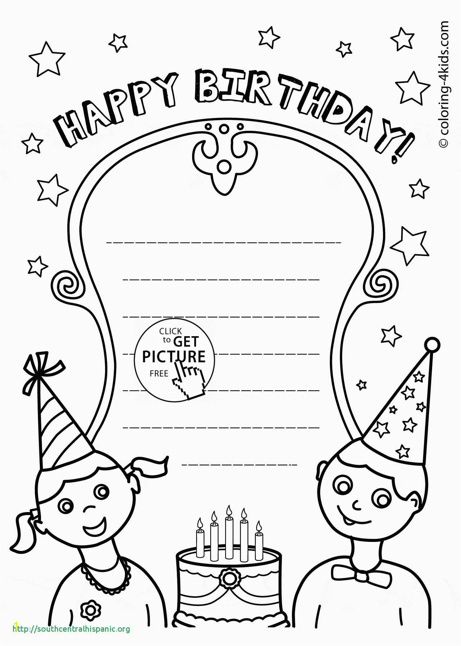 Happy Birthday Uncle Coloring Pages 22 Nouveau Happy Birthday Card Printable Coloring Pages