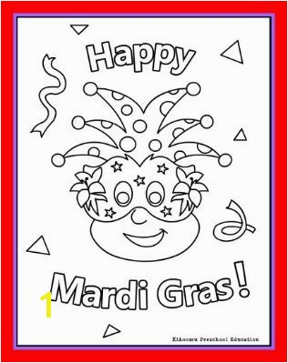 Happy Mardi Gras Coloring Page For Kids 316—399 pixels