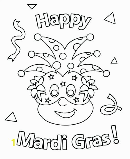Mardi Gras Coloring Happy Coloring Pages Mardi Gras Mask Coloring Page