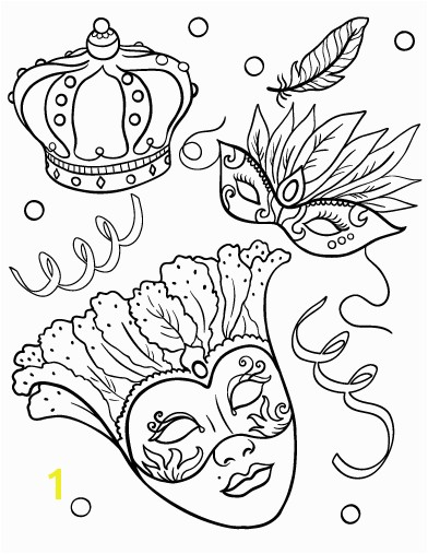 Printable Mardis Gras coloring page Free PDF at pages mardis gras