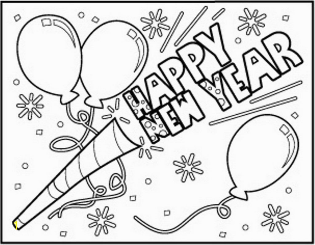 Download Happy New Year Coloring Pages 2018 New Years Eve Coloring Pages