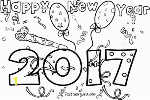 A Ordable Happy New Year Coloring Pages To Print Best Preschool Page