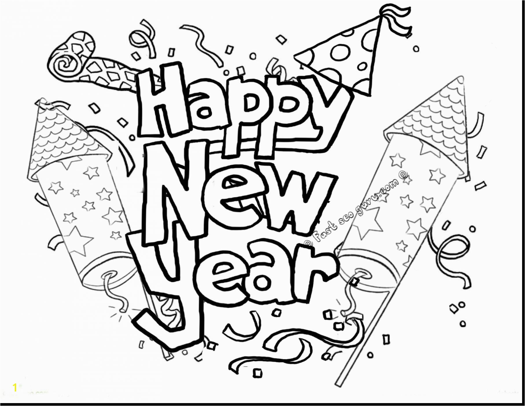 Secrets Happy New Year Coloring Pages To Print Direct 2017 Chin