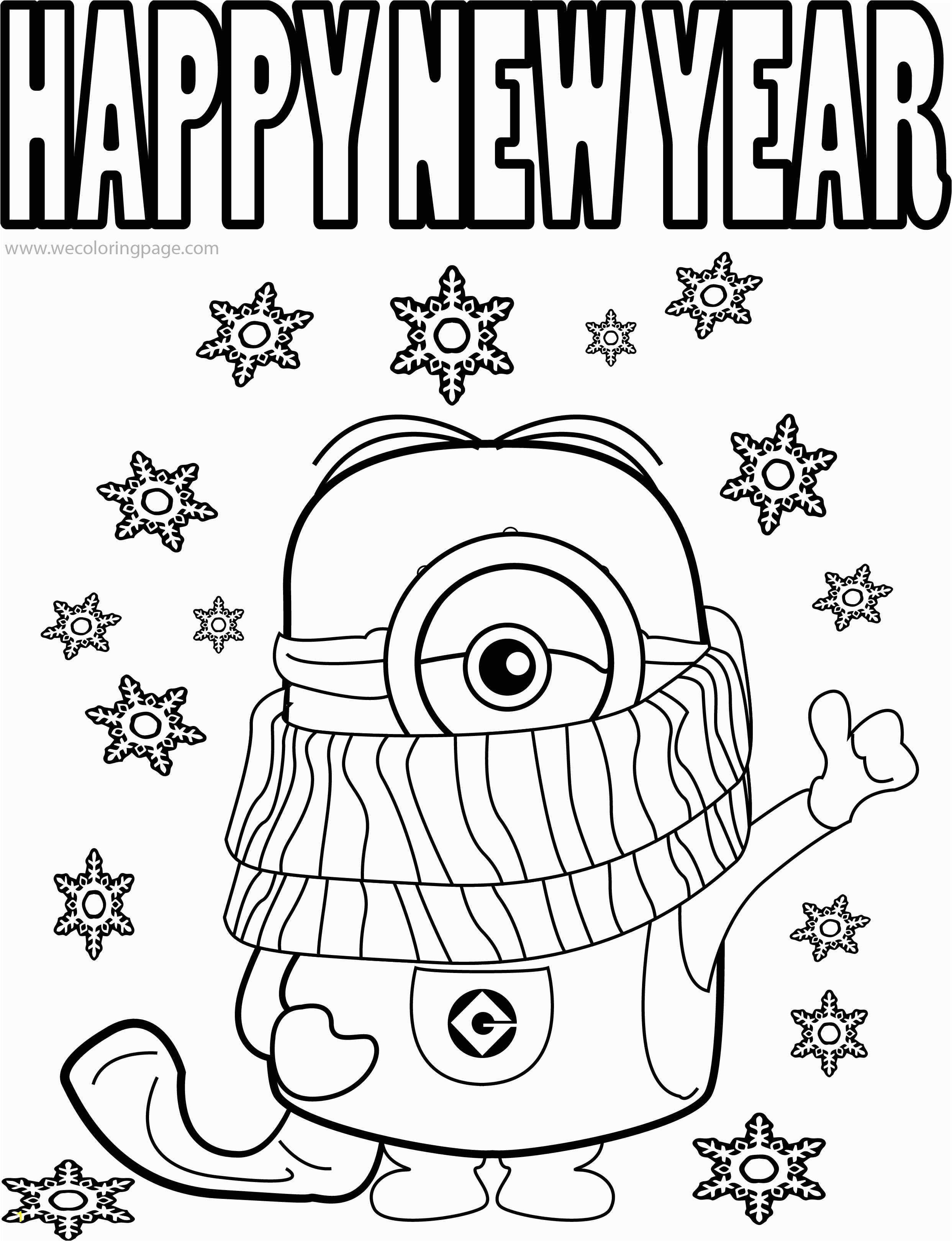 Refundable Happy New Year Coloring Pages To Print Amazing Sheets 2019 Pa