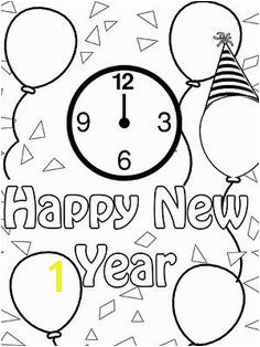 Happy New Year Coloring Pages Printable Happy New Year Party Hats Coloring Page Church Stuff