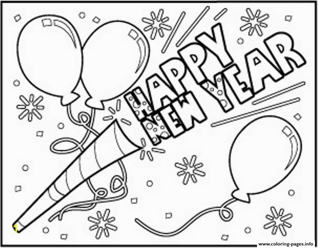 Happy New Year Coloring Pages to Print Happy New Year to Download Coloring Pages Printable