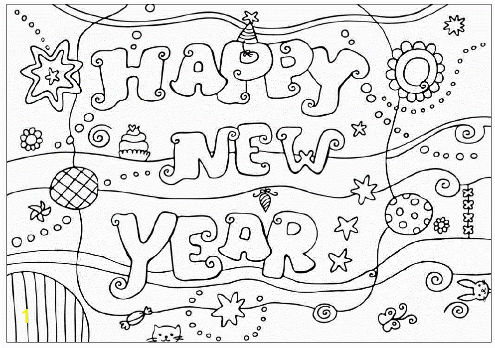993x698 happy new year 2014 coloring design for kids