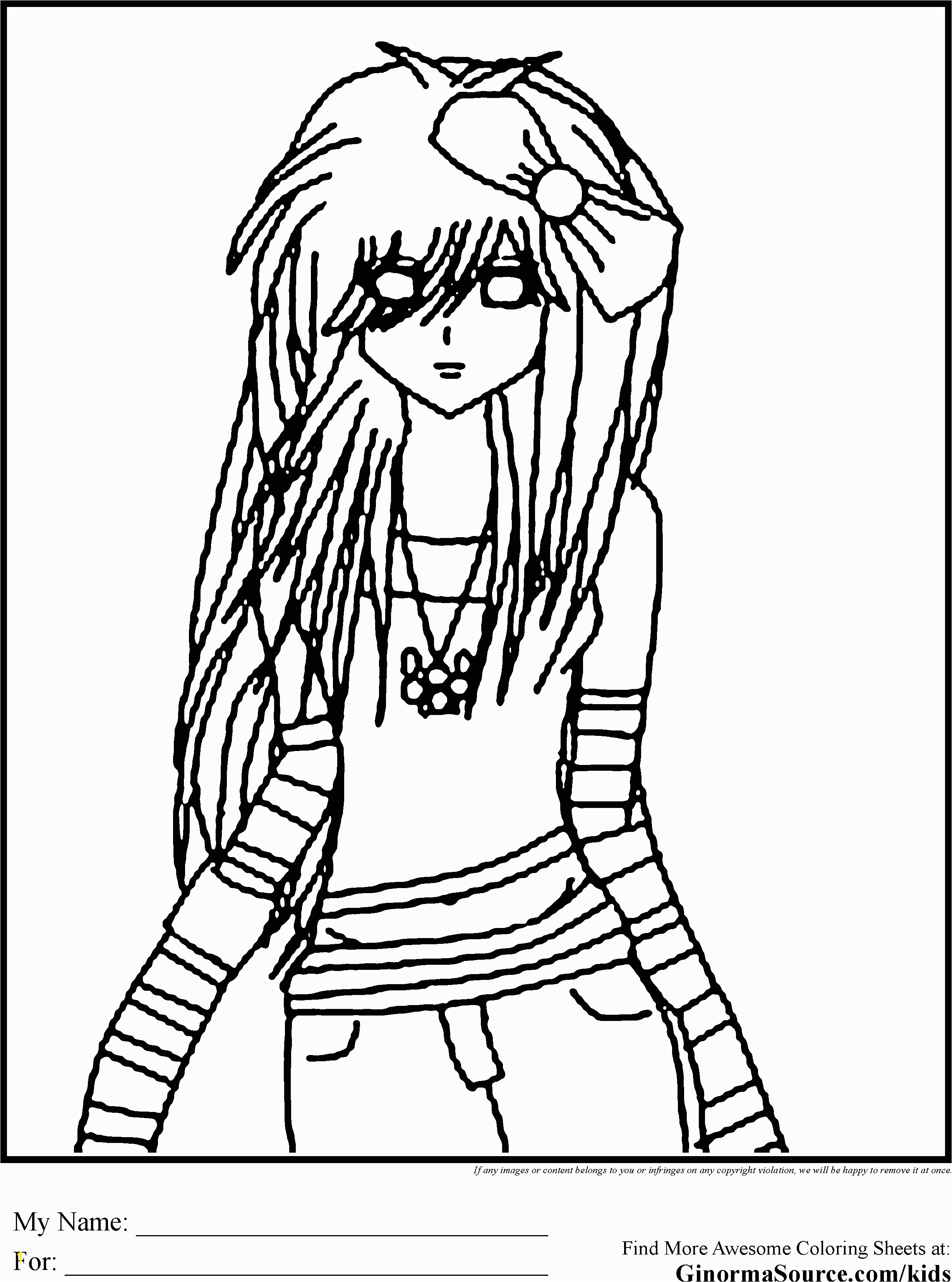 Hard Girl Coloring Pages Emo Coloring Pages 3 for Krysta Pinterest