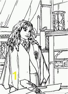 Hermione Granger Harry Potter Coloring Page