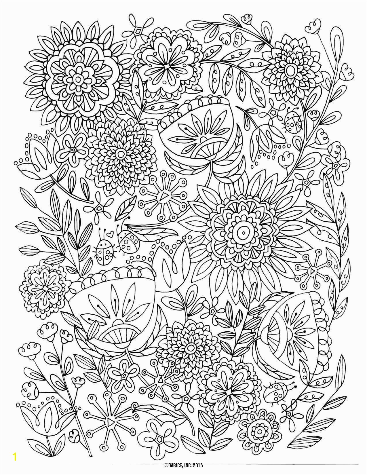 Cool Coloring Page for Adult Od Kids Simple Floral Heart with Ribbon